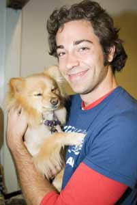 Maxx with tv's Chuck star Zachary Levi