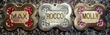 bone name dog pet id tags