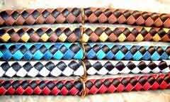 colored leather collars