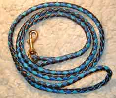 round braided leashes leads