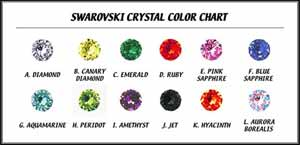 Swarovski crystal jewel chart for Animalstars.com