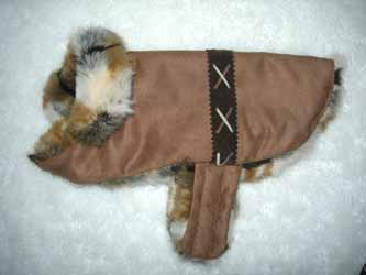 western faux fur dog coats