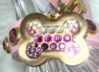 beautiful jeweled pet tags