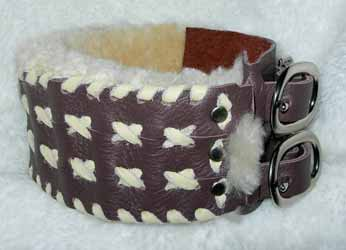 soft wide leather greyhound sighthound collars